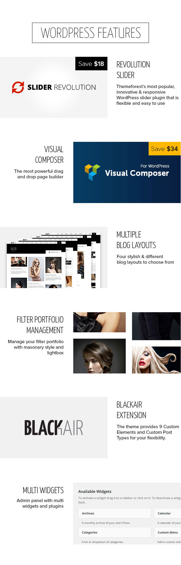 Blackair - One Page WordPress Theme for Hair & Beauty Salon - 9