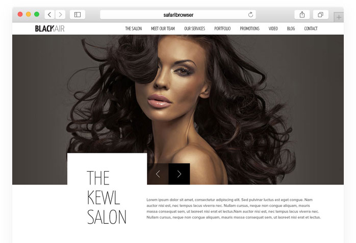 Blackair Html5 Template For Hair Salons