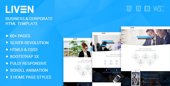 Liven - HTML5 Template for Business