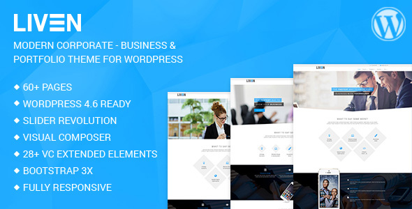 Liven - Modern Corporate - Business & Portfolio Theme for WordPress