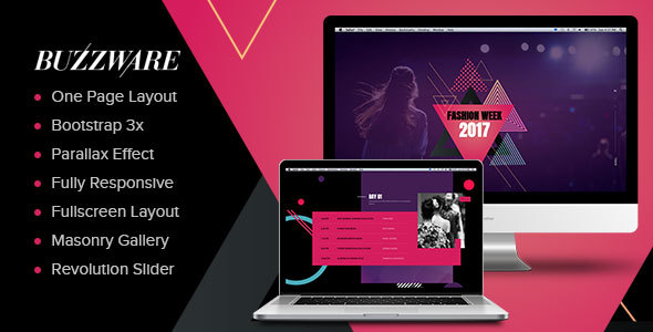 Buzzware - Fashion Week & Beauty Event HTML Template
